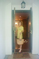 yellow Misselfridge dress - Pangkor Laut Resort bag