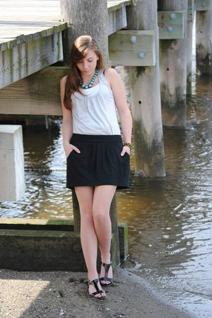 Urban Outfitters top - Target skirt - payless shoes - lotus necklace