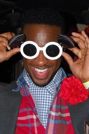 white Kiss glasses - blue Ralph Lauren blazer - red Ralph Lauren shirt - Urban O