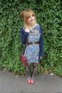 Thrifted-dress-primark-tights-vintage-bag-primark-belt-ebay-flats