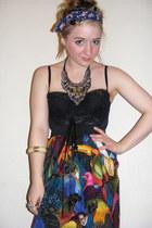 cream and gold Camden Market bracelet - Alice Takes A Trip dress