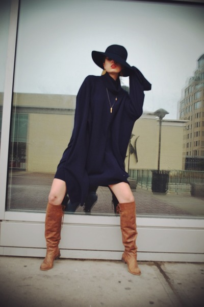 MSGM boots - Maison Martin Margiela for H&M dress - vintage hat