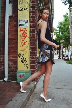 Tiffany & Co necklace - cynthia rowley skirt - asos top - stuart weitzman pumps