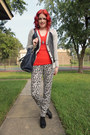 Black-sears-boots-navy-michael-kors-purse-gray-h-m-pants