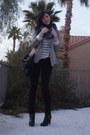 Black-ralph-lauren-boots-tan-zara-blazer-teal-missoni-scarf