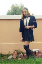 polka dot Dotti dress - Forever New socks - varsity Kmart cardigan