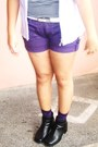 Amethyst-vintage-blazer-deep-purple-sm-shorts-deep-purple-sm-socks-white-m