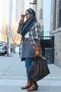 Brown-walter-coat-gray-h-m-scarf-white-dkny-dress-gray-calvin-klein-skirt-