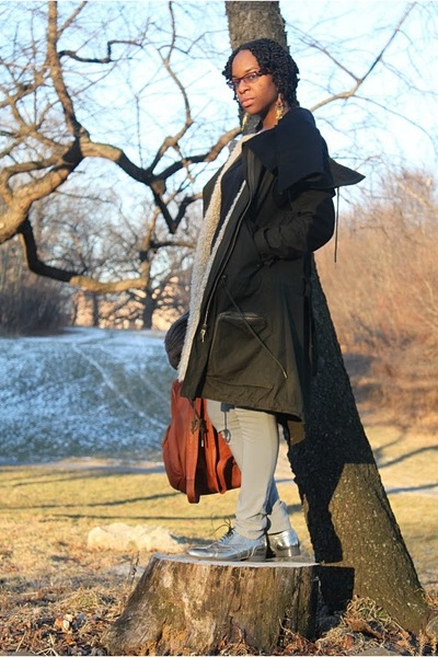 green Nicholas K coat - black Rick Owens shirt - gray maison martin margiela pan