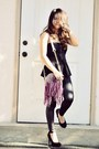 Purple-fringed-just-fab-purse-black-studded-ross-heels