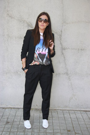 H&M pants - Fosco shoes - Lefties blazer - carrera sunglasses