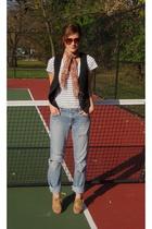 shirt - vest - scarf - shoes - sunglasses