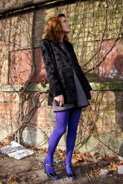 blazer - dress - shoes - tights