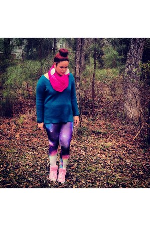 Aeropostale sweater - cheetah sweater - galaxy print leggings