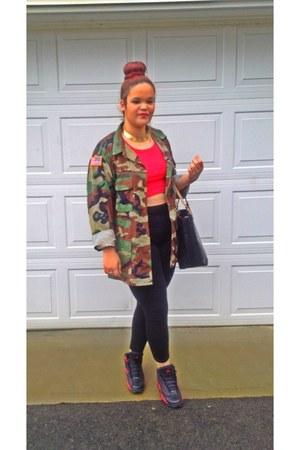 us army diy jacket - high waist Miss Tina leggings - Michael Kors bag