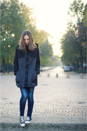 asoscom coat - H&amp;M jeans - Converse sneakers