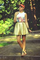 gold Mosquito skirt - orange Auchan hat - black River Island sandals