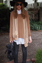 white supre shirt - light brown Gorman boots - dark gray Bettina Liano jeans