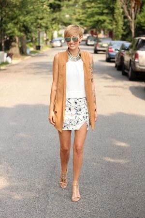 H&M vest - Zara skirt - Target top - Michael Kors heels