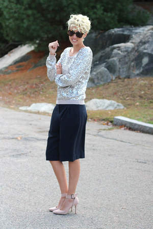 asos shorts - H&M top - asos heels