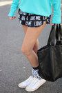 Black-tote-victoria-secret-pink-bag-victoria-secret-pink-shorts