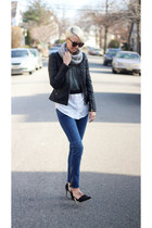 Zara jacket - H&M jeans - Zara sweater - asos top - Zara heels