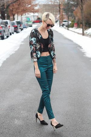 Victorias Secret jacket - asos top - asos pants - Zara heels