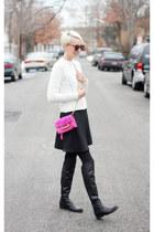 Mango skirt - corso como boots - Zara sweater - H&M tights