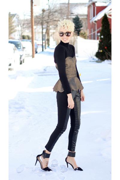 Zara top - DKNY pants - Zara heels