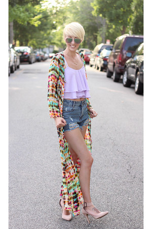 Sheinsidecom top - Sheinsidecom dress - Sheinsidecom shorts - asos heels