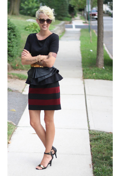Forever 21 top - asos heels - Zara skirt - asos belt