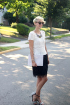Zara necklace - The Limited bag - Ann Taylor Loft skirt - Zara heels - H&M top