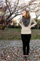 brown banana republic sweater - black Cheap Monday pants - gray American Apparel