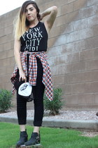 brandy melville top - hollister top - PacSun boots - Forever 21 pants