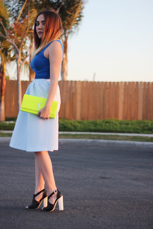 Topshop skirt - Yves Saint Laurent bag - Forever 21 top