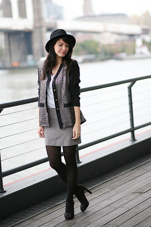 vintage blazer - H&amp;M skirt