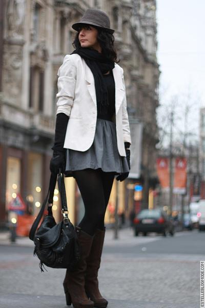 Asos Fashion Blog on 8536079248 Silver Asos Skirt Gray H M Hat Beige H M Blazer 400 Jpg