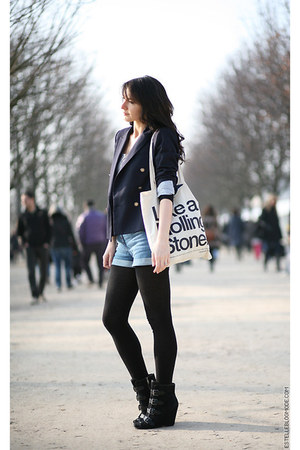 ASH boots - Zara blazer - H&M shorts