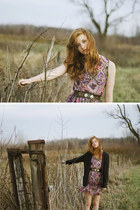 chiffon Esther-fromthesticks dress - knit Forever 21 cardigan