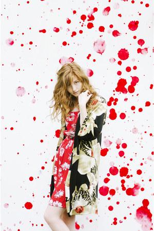 kimono Choies cardigan - diy Esther from the Sticks dress