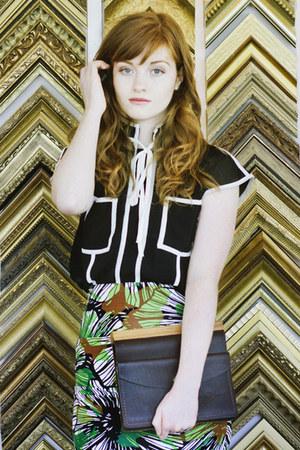tropical print style moi skirt - chiffon Jolly Chic blouse