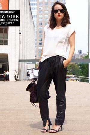 Gryson bag - Chloe sunglasses - Alexander Wang heels - vince pants