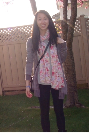 H&M scarf - Urban Outfitters sweater - Gap shirt - Target leggings - accessories