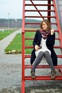 Charcoal-gray-reserved-boots-navy-h-m-coat-brick-red-h-m-scarf