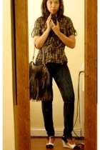 blouse - jeans - shoes - purse