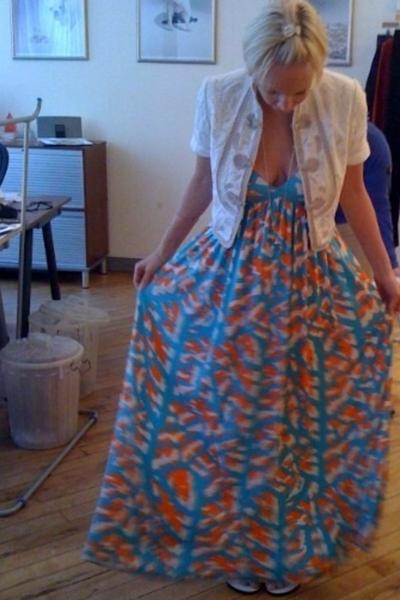 Diane Von Furstenburg dress - Elie Tahari jacket