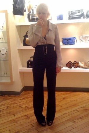 Nina Ricci top - Kaufman Franco pants - Giuseppe Zanotti shoes - Iosselliani nec