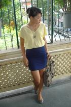 random brand blouse - random brand skirt - random brand shoes - random brand acc