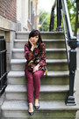 Leather-zara-shoes-fluoro-knit-topshop-jumper-burgundy-h-m-pants