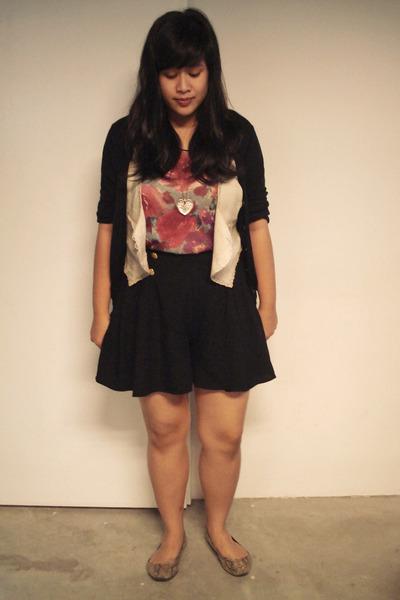 black ann taylor cardigan - beige thrifted vest - pink online Trendy Confessions